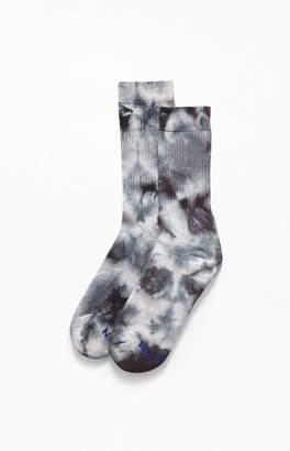 PacSun Black Multi Tie-Dyed Crew Socks