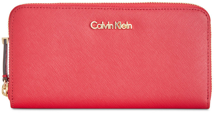 Calvin Klein Calvin Klein Saffiano Zip Around Wallet