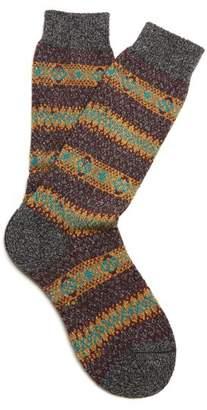 Pantherella Scott Nichol Burghley Socks - Mens - Grey Multi