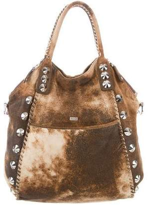 Be & D Studded Leather Satchel