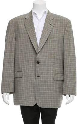 Burberry Houndstooth Notch-Lapel Blazer