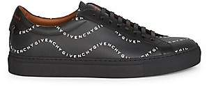 Givenchy Men's Urban Street Wavy Logo Print Leather Sneakers