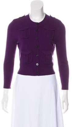 Diane von Furstenberg Wool & Cashmere-Blend Crop Cardigan