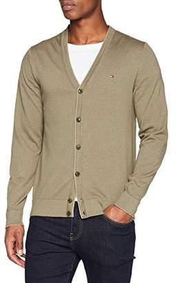 Tommy Hilfiger Men's Cotton Linen Cardigan,Large