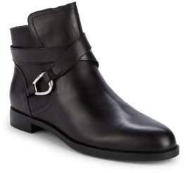 Lauren Ralph Lauren Round Toe Leather Booties