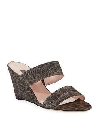 Sarah Jessica Parker Fleur Leopard Sparkle Sandals