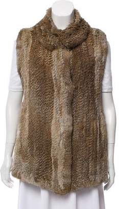 Calypso Knitted Fur Vest w/ Tags