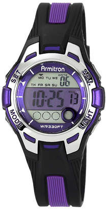JCPenney Armitron Womens Purple Chronograph Digital Sport Watch 45/7030PUR