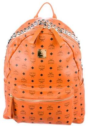 MCM Stark Studded Large Backpack