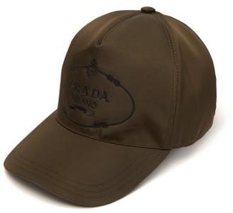 Prada Logo Embroidered Nylon Cap - Mens - Khaki