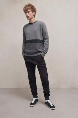 French Connection Tweed Applique Sweatshirt