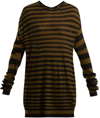 Haider Ackermann Striped cotton and cashmere-blend top