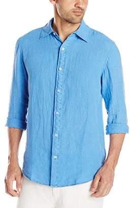 Margaritaville Men's Long Sleeve Dobby Linen Shirt