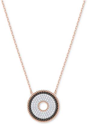 "Swarovski Rose Gold-Tone Circle 15-3/4"" Pendant Necklace"