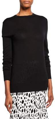 St. John Extrafine Merino Wool Jersey Knit Crewneck Sweater