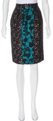 Miu Miu Jacquard Pencil Skirt w/ Tags Black Jacquard Pencil Skirt w/ Tags