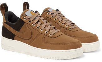 Nike Carhartt Wip Air Force 1 Suede-Trimmed Canvas And Corduroy Sneakers