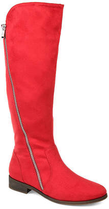 Journee Collection Womens Jc Kerin Riding Boots Stacked Heel Zip