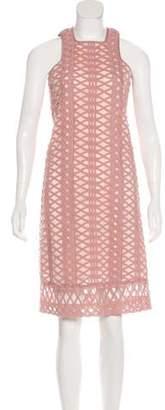 Jonathan Simkhai Mesh-Accented Midi Dress Mauve Mesh-Accented Midi Dress
