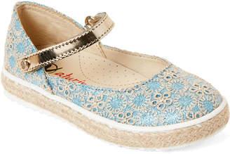 Naturino Toddler/Kids Girls) Blue Shimmer Eyelet Mary Jane Shoes