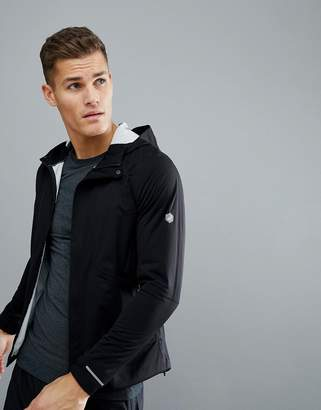 Asics Running Accelerate Jacket In Black 154594-0904