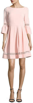 Eliza J Bell Sleeve Fit-and-Flare Dress