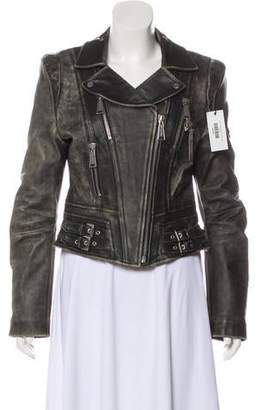 Philipp Plein Leather Moto Jacket w/ Tags