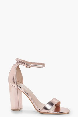 bc687890e637 Rose Gold Metallic Heels - ShopStyle UK
