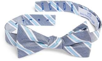Hilton Southern Tide Stripe Silk Bow Tie