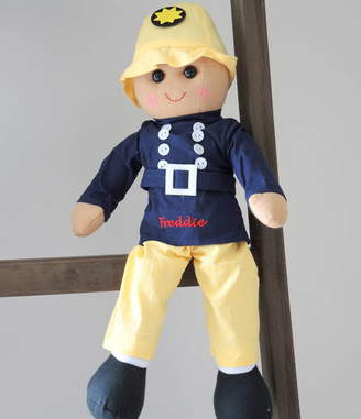 The Alphabet Gift Shop Personalised Fireman Rag Doll