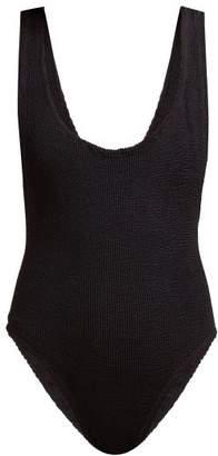 Reina Olga Ruby Scrunch Scoop Back Swimsuit - Womens - Black