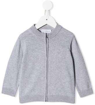 Emporio Armani Kids zipped fitted cardigan