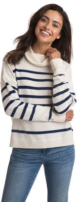 Vineyard Vines Cashmere Striped Roll Neck Sweater