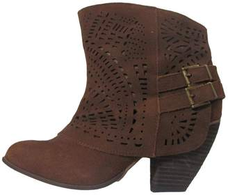 Naughty Monkey Tan Suede Booties