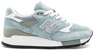 New Balance Made In the USA Sneaker in Blue $180 thestylecure.com
