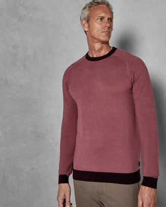Ted Baker JUSCOTT Tall striped sleeve wool sweater