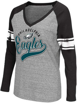 G-iii Sports Women's Philadelphia Eagles Raglan Long Sleeve T-Shirt