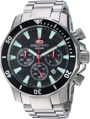 Seapro Men's Casual Scuba Dragon Diver Limited Edition 1000 Meters Dial Quartz Watch (Model: SP8340)