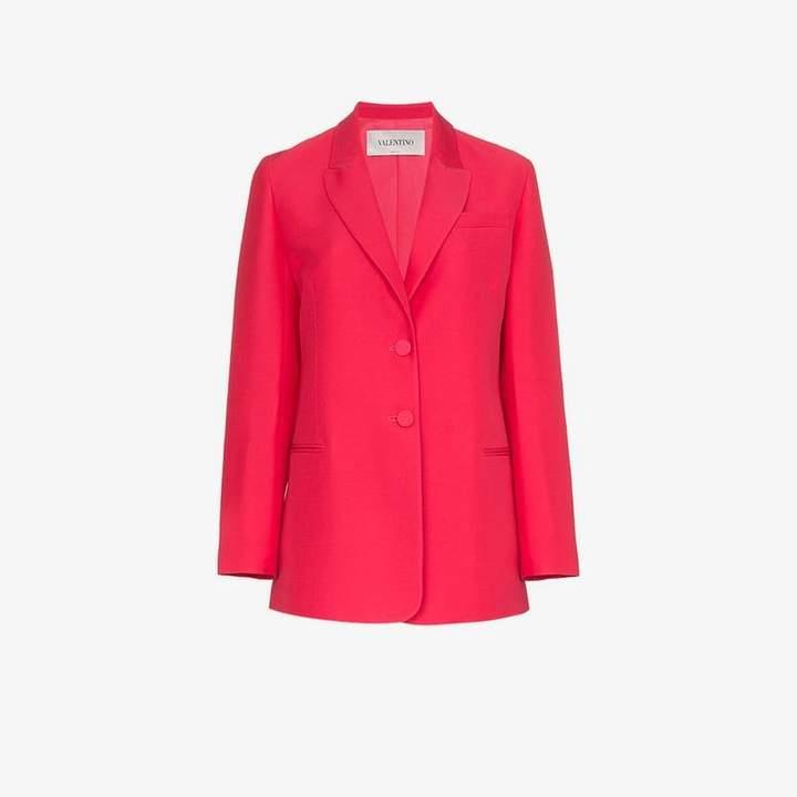 Two button wool-silk blend blazer