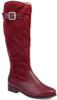 ac27a1308e1a Brinley Co. Womens Comfort Wide Calf Two-tone Riding Boot