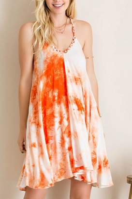 Entro Tie Dye V Neck Dress
