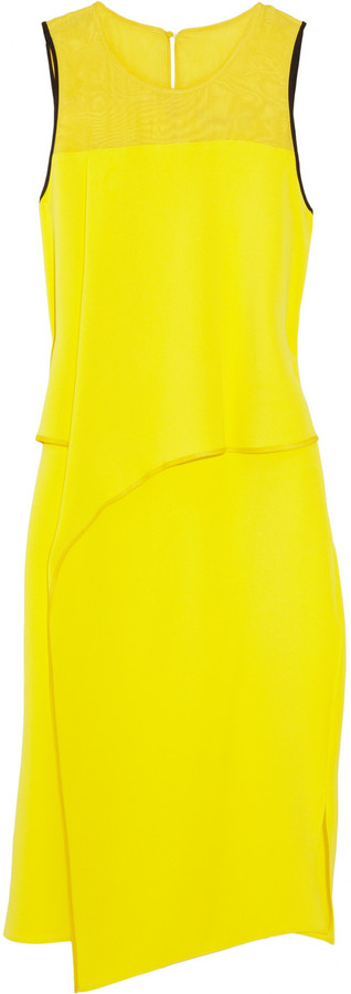 Reed Krakoff Silk-blend wrap-effect dress