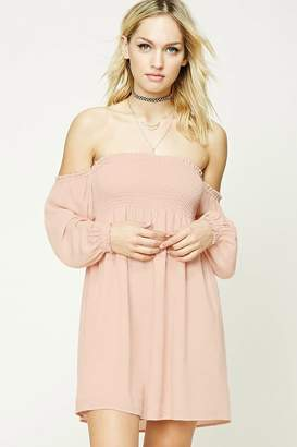 Forever 21 Contemporary Smocked Mini Dress