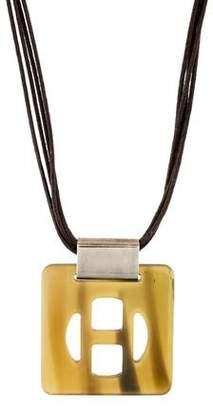 Hermes Lacquered Horn Pendant Necklace