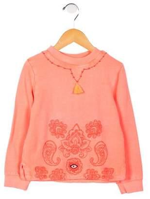 Billieblush Girls' Embroidered Beaded Sweatshirt w/ Tags
