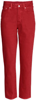 H&M Vintage High Cropped Jeans - Red