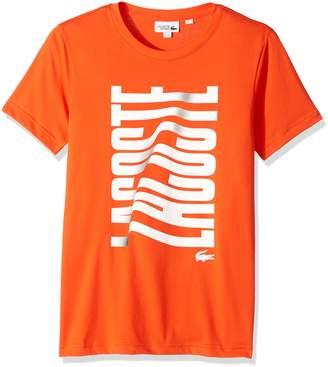 Lacoste Men's Tennis Short Sleeve Vertical Graphic T-Shirt