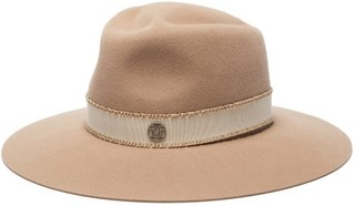 Maison Michel Charles Felt Fedora Hat - Womens - Beige