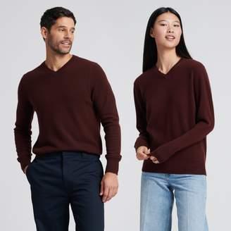 Naadam The Essential $75 Cashmere V-Neck Sweater Plum