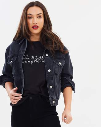Missguided All Black Everything T-Shirt